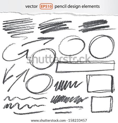 vector pencil design elements