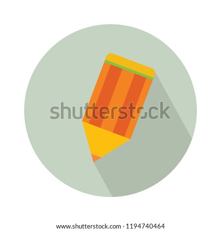 vector pencil icon, office equipment illustration - education tool, draw object #1194740464