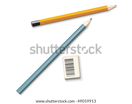 Vector pencils and eraser