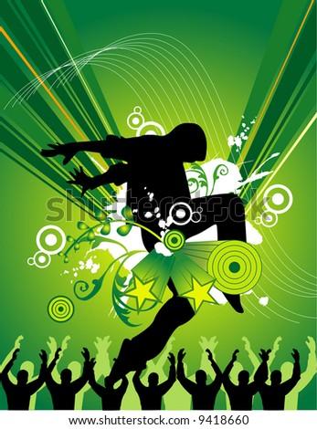 vector people dance music