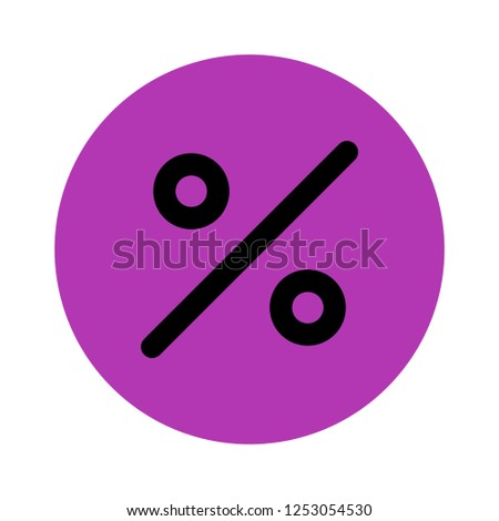 vector percentage icon