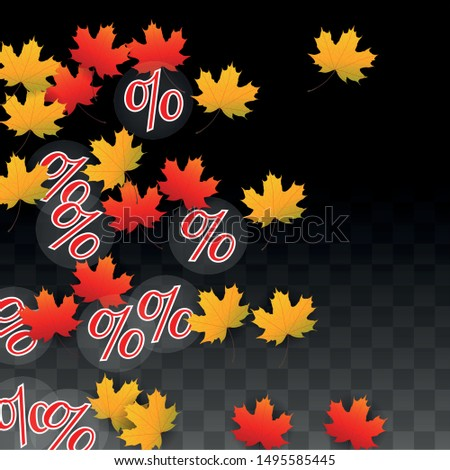vector percentage sign and