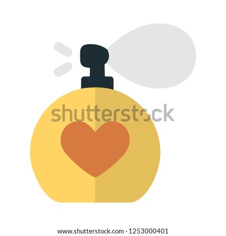 vector perfume bottle flat icon. beauty, fashion, glamour sign symbol