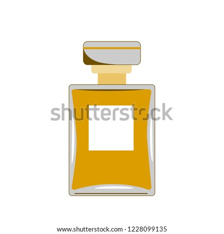 Vector Perfume icon. Retro perfume illustration for print, web, mobile and infographics isolated on white.