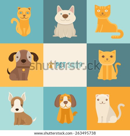 vector pet shop logo design