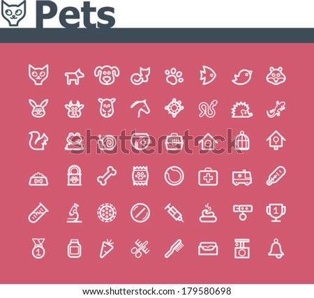 Vector pets icon set