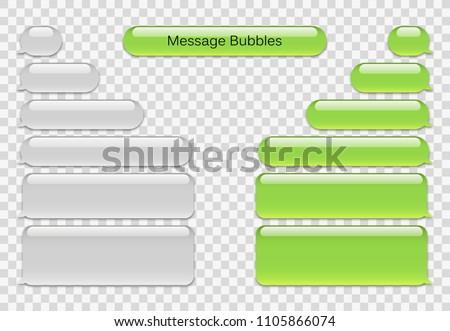 Vector Phone Chat Bubbles Sms Messages Speech Short Message Service