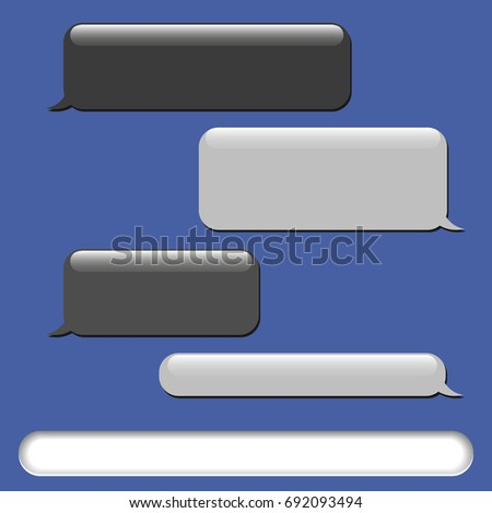 vector phone chat bubbles sms