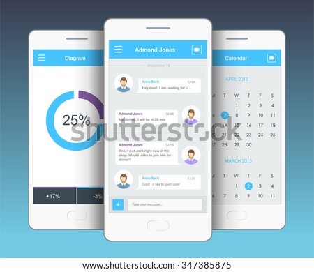 vector phone chat interface