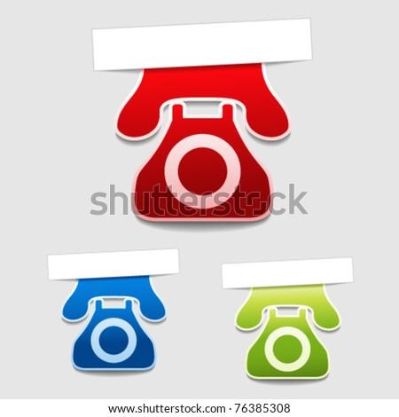 Vector phone labels