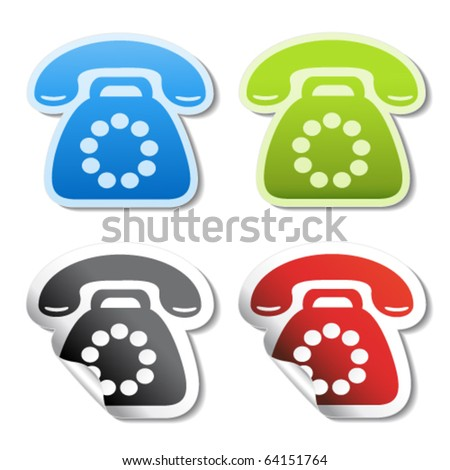 Vector phone stickers