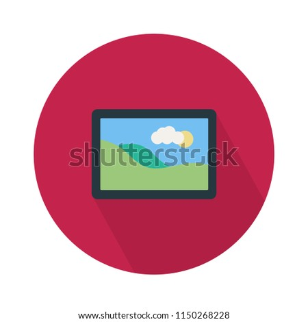 vector photo frame flat icon. picture gallery sign symbol, photography pictogram