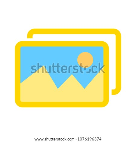 vector photo frame illustration isolated - image or picture icon - blank album