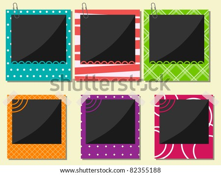 vector photo frame set