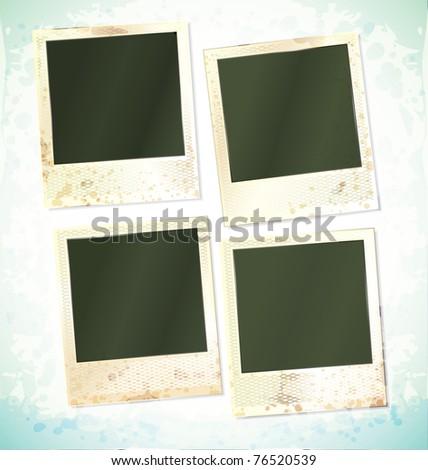 vector photo frames set of four cards