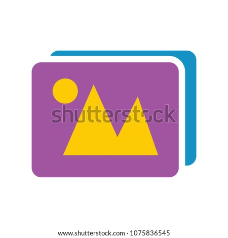 vector photo gallery illustration - camera picture sign - photography album symbol