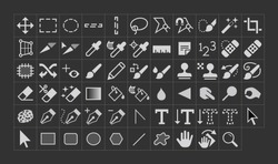 Vector Photo Manipulation Tool Icons