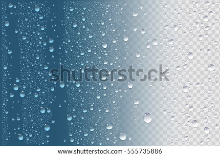 Shutterstock Vector Photo Realistic Image Of Raindrops Or Vapor Trough Window Glass