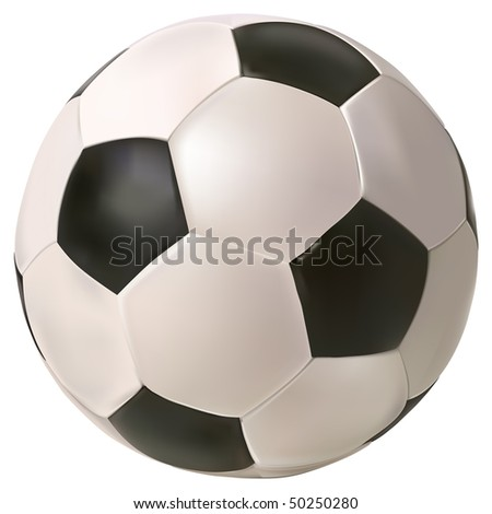 vector photo realistic soccer ball on white background
