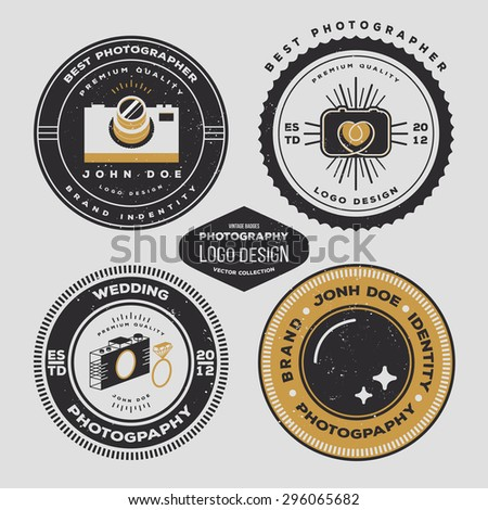 Photography Badges Vector Photography Badges And