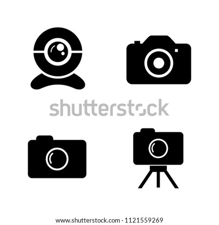 vector photography camera icons ...