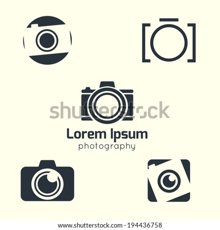 Vector photography icon Photo icon Camera pictogram