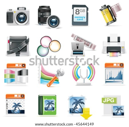 Vector photography icon set