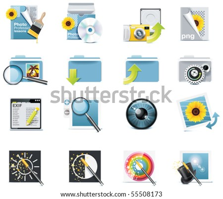Vector photography icons. Part 7