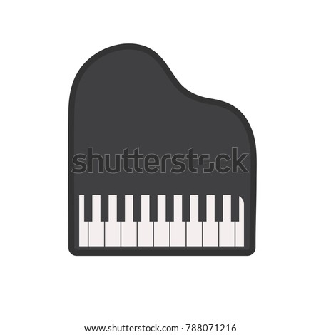 vector piano illustration - music icon