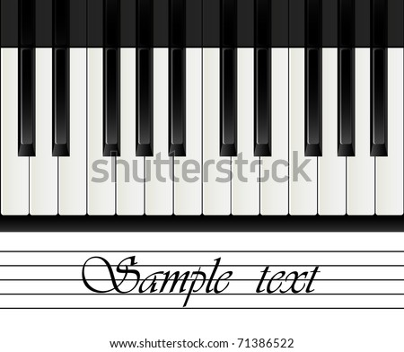 piano keys on abstract background - download free vector art