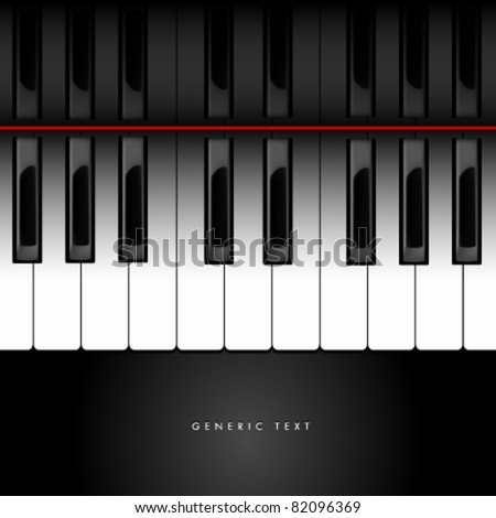 Vector Piano Keyboard Background