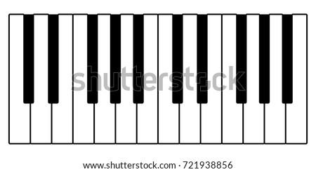 vector piano keys