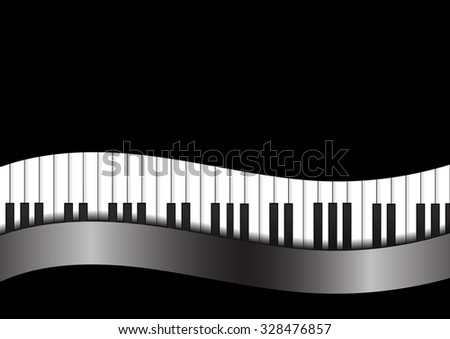 vector   piano with curve on