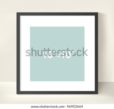 Vector picture frame for a presentation of photos or illustrations