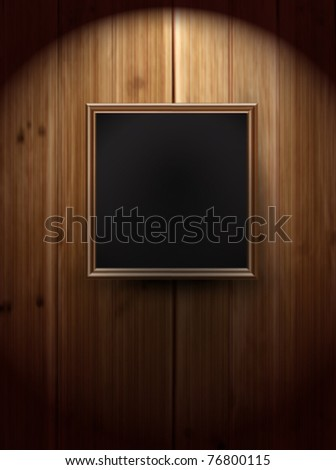 vector picture frame on wall