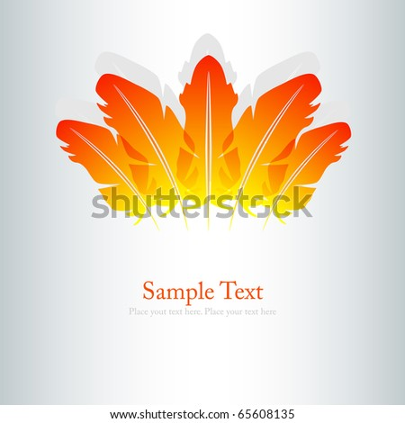 Vector picture of abstract feathers