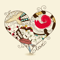 Vector picture of abstract heart