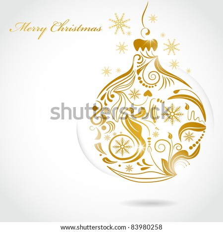 Vector picture of gold of christmas ball