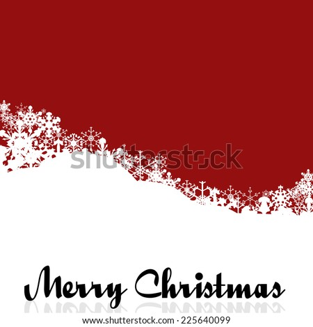 vector picture with a christmas