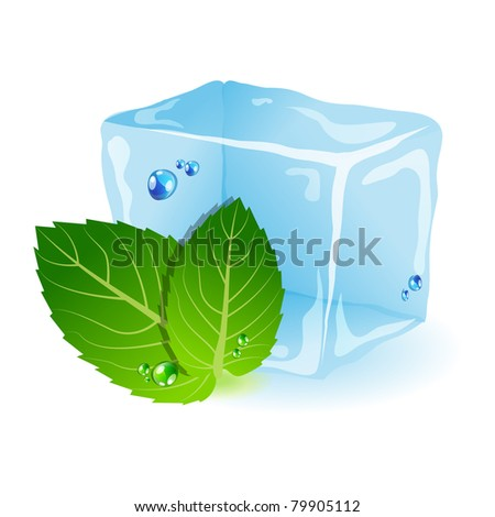 vector picture with ice and
