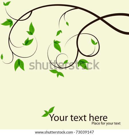 vector picture with tree