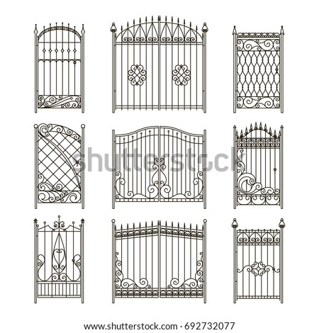 vector pictures of iron doors
