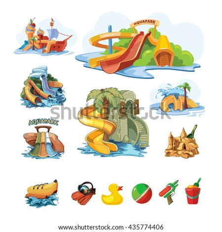vector pictures set of water