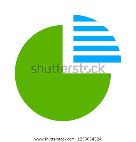 vector pie-graph icon