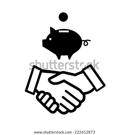 vector piggy money bank with