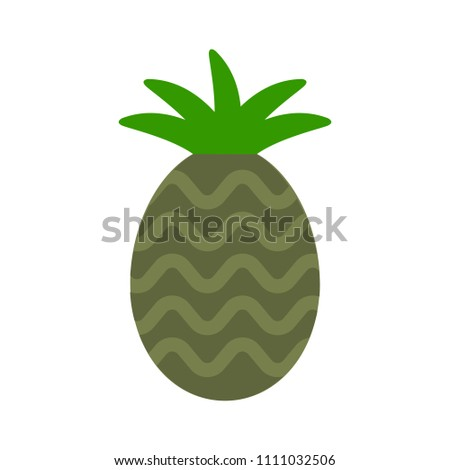 vector pineapple illustration, tropical fruit - organic food