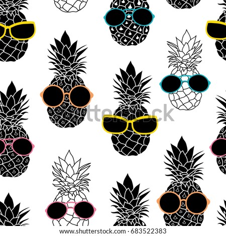 vector pineapples wearing