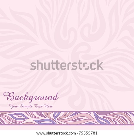 vector pink abstract background with ornaments