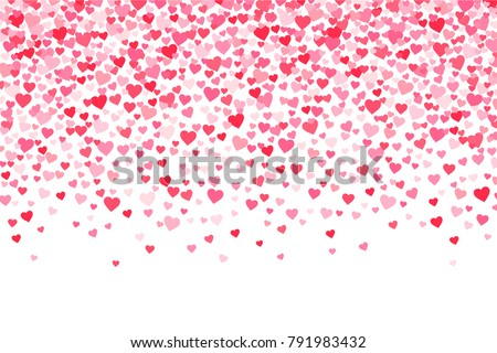 Vector pink and red Valentines Days hearts background