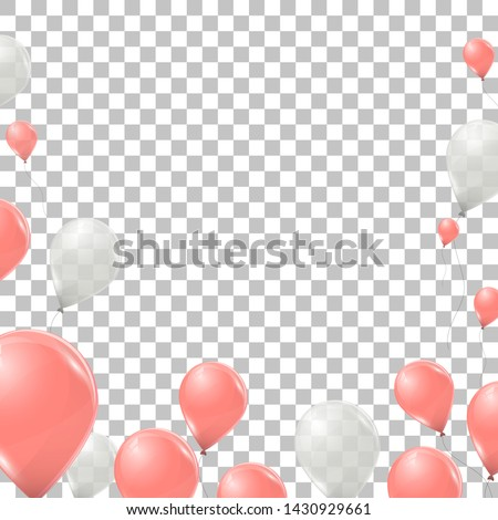 vector pink and white helium